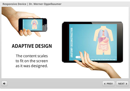 responsive design for elearning presentation by Dr. Werner Oppelbaumer