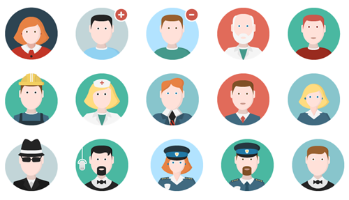 Articulate Rapid E-learning Blog - free people icons example 2